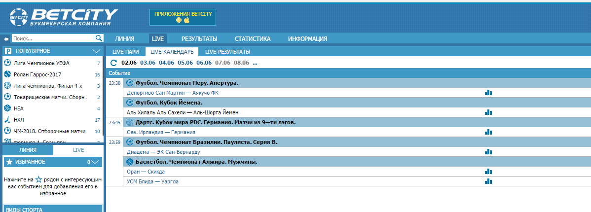betcity ЦУПИС Россия