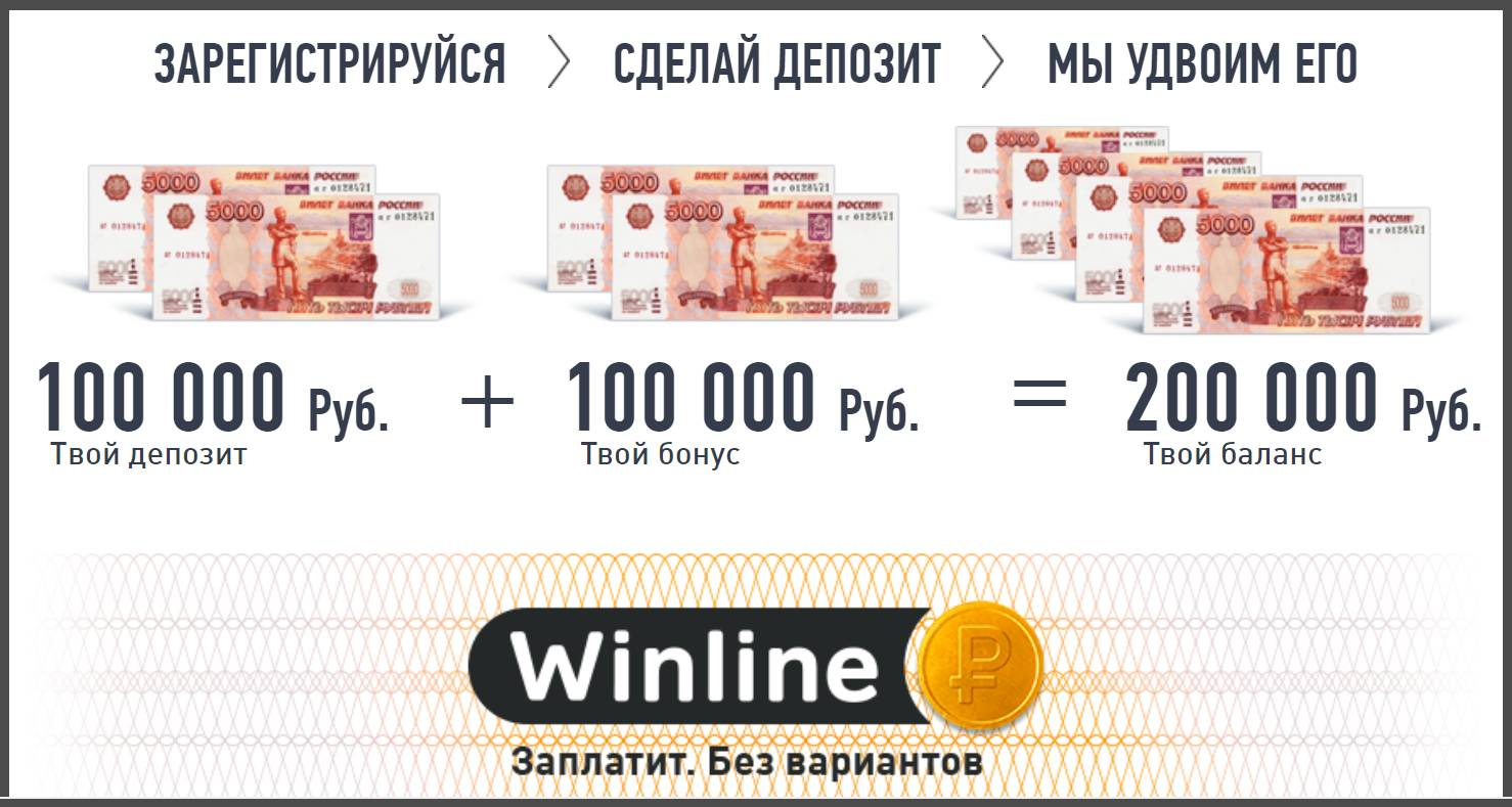 Winline бонус 100000