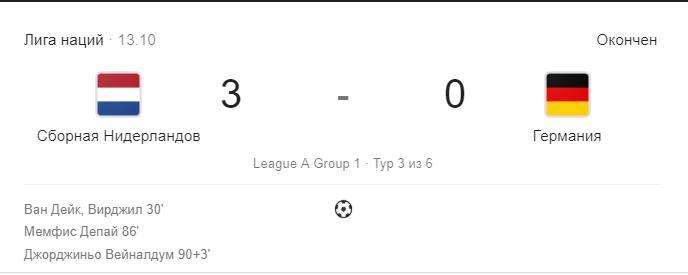 Германия – Голландия (Нидерланды) прогноз на матч Лига Наций 2