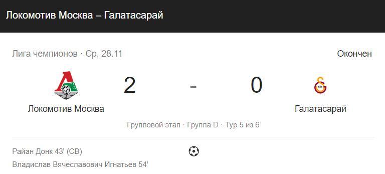 Прогноз на матч РФПЛ Спартак – Локомотив 02.12.2018 2