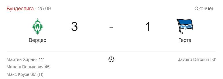 Прогноз на матч Чемпионата Германии Вердер – Бавария 3