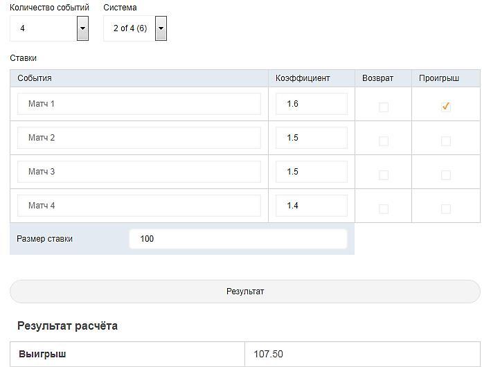 Программы для ставок на спорт 10 онлайн калькуляторов для расчета букмекерских пари 6