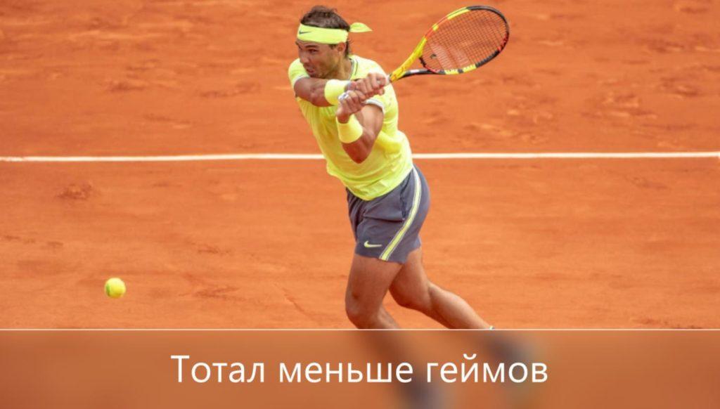 тотал на ставки теннис