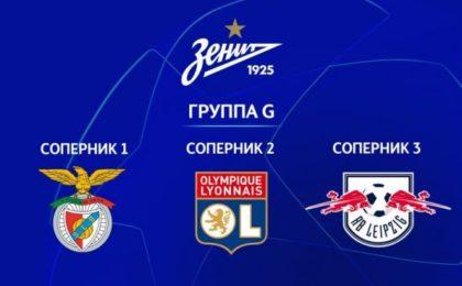 Лига чемпионов «Зенит» попал в группу равных по силам