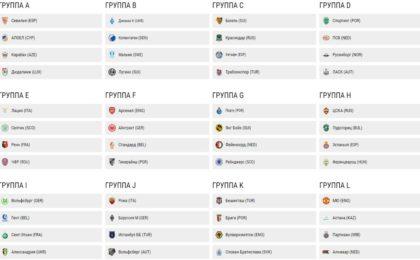 Жеребьевка Лиги Европы 2019 2020 результаты