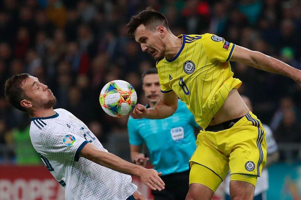 Казахстанские футболисты готовы дать бой сборной России