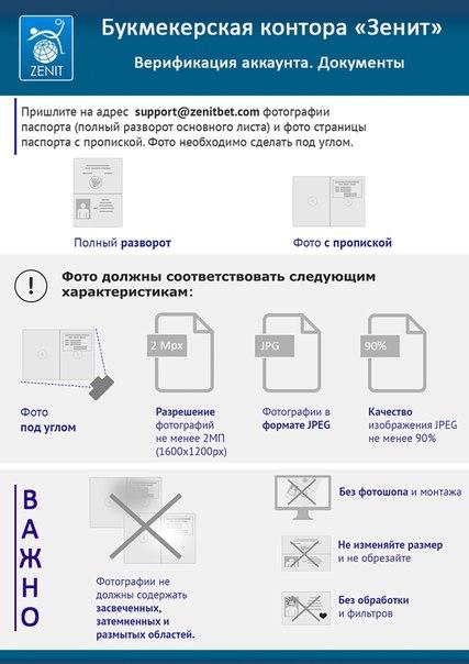 Регистрация в БК Зенит 3