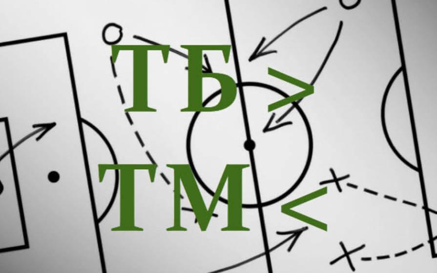 Ставки на ТМ в футболе 1