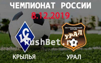 Прогноз на матч Крылья Советов – Урал