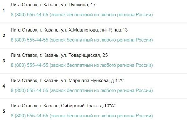 Адреса букмекерская контора в татарстане