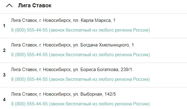 лига ставок новосибирск