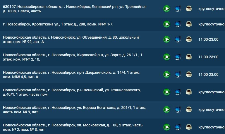 1хставка новосибирск