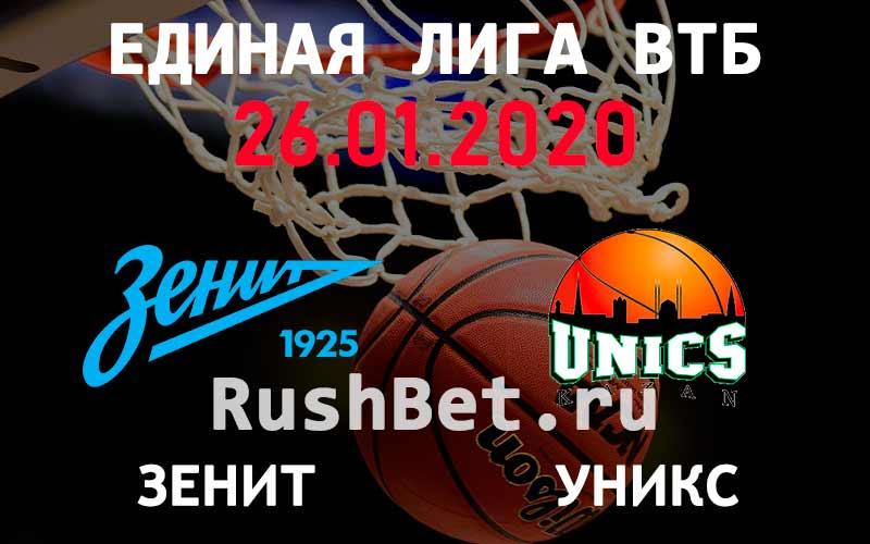 Прогноз на матч Зенит - УНИКС