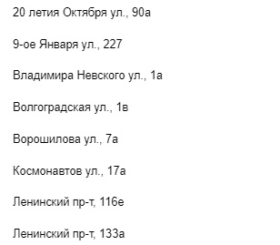 Адреса Фонбет в Воронеже