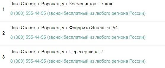 Лига Ставок в Воронеже
