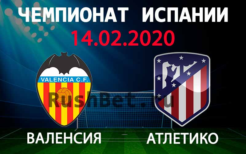 Прогноз на матч Валенсия – Атлетико
