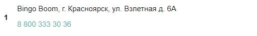 Красноярские отделения Бинго Бум