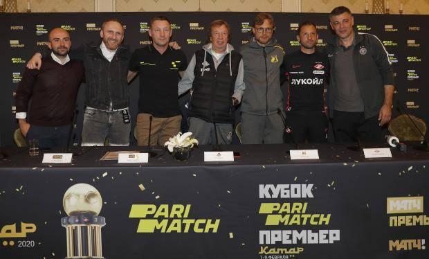 Игроки на пресс-конференции