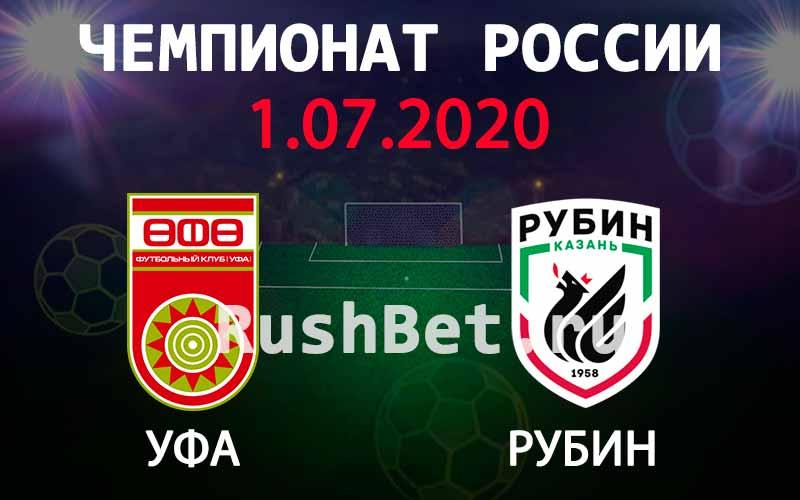 Прогноз на матч Уфа – Рубин