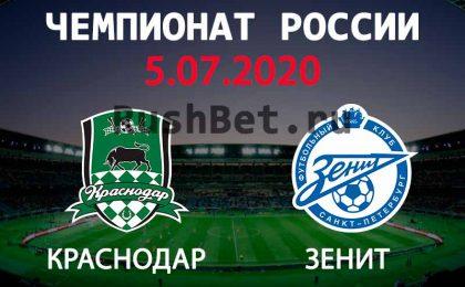 Прогноз на матч Краснодар – Зенит