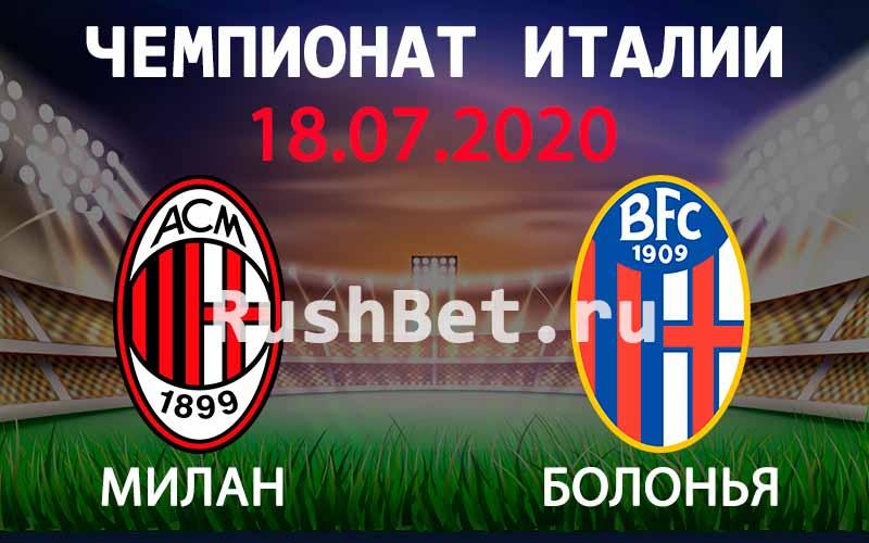 Прогноз на матч Милан – Болонья