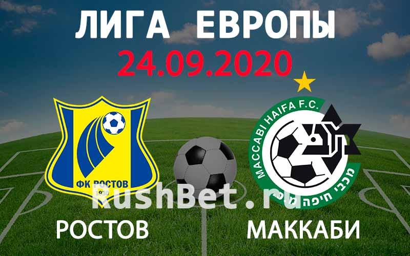 Прогноз на матч Ростов - Маккаби Хайфа