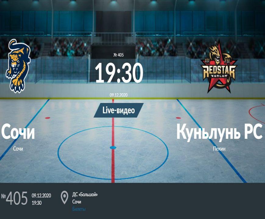 Прогноз на матч Сочи - Куньлунь РС